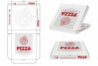Food Product Labels Template Unique Pizza Box Design Unwrap Fastfood Pizza Package Realistic