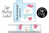 Free Chapstick Label Template Unique Lip Balm Label Snowman Edit Personalize Customize In
