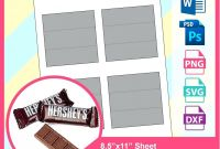 Free Hershey Kisses Labels Template Awesome 040 Template Ideas Birthday Candy Wrappers Sq Chocolate