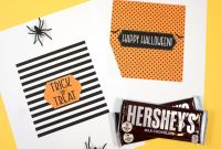 Free Hershey Kisses Labels Template Unique Free Printable Halloween Candy Bar Wrappers Happiness is