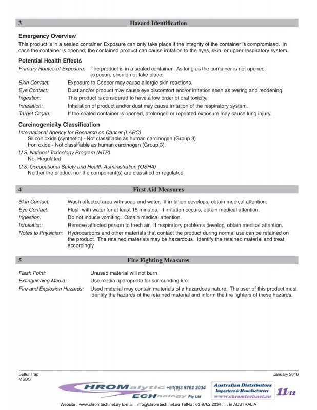 Free Msds Label Template Unique Gas Purification 2015 190p Pages 101 150 Text Version