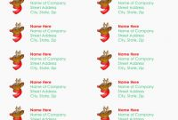Free Printable Return Address Labels Templates New Free Printable Christmas Address Labels Forza