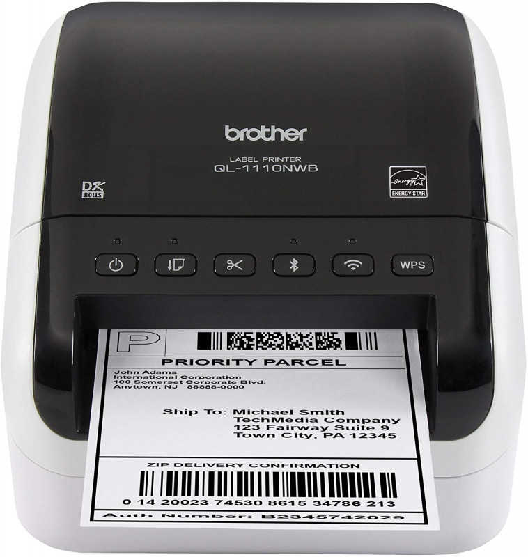 Free Printable Shipping Label Template Awesome Brother Ql 1110nwb Wide Format Postage And Barcode Professional Thermal Label Printer With Wireless Connectivity