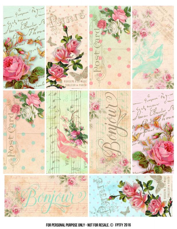 Free Printable Shipping Label Template New Parisian Romantic Scrapbook Printables Free Scrapbook