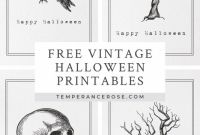 Free Printable Vintage Label Templates Awesome Free Printable Vintage Halloween Wall Art Halloween Prints
