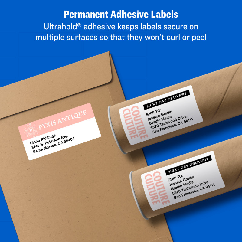 Free Printable Water Bottle Label Template New Avery Shipping Labels Sure Feed 2 X 4 250 Labels 5263