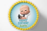 Free Printable Water Bottle Labels Template Awesome Boss Baby Cake toppers