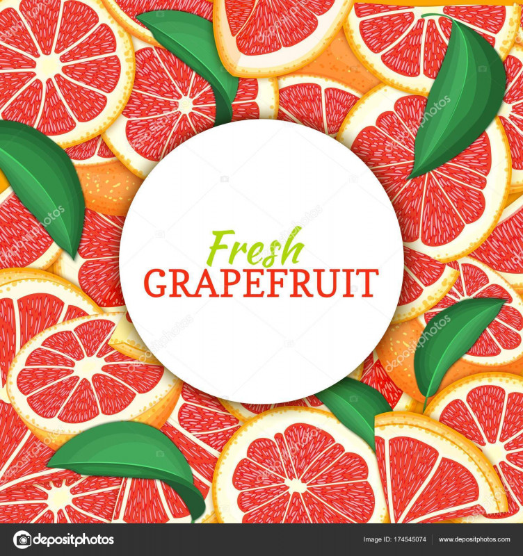 Free Round Label Templates Download Awesome Round White Label On Citrus Grapefruit Background Vector