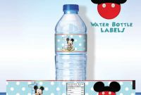 Free Water Bottle Labels for Baby Shower Template Awesome 002 Template Ideas Free Water Bottle Impressive Label