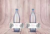Free Water Bottle Labels for Baby Shower Template New Pink Grey Modern Floral Wedding Water Bottle Labels