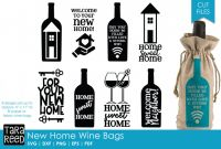 Goodie Bag Label Template Unique New Home Gift Wine Bags Svg or Cut Files for Crafters