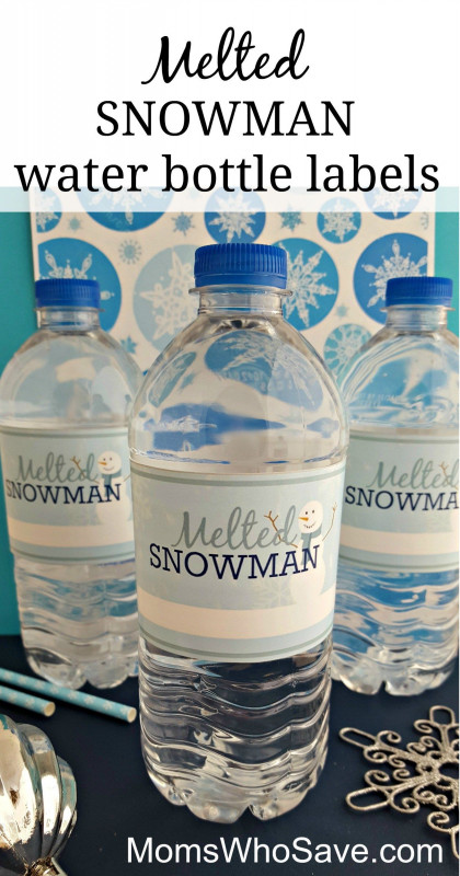 Hand Sanitizer Label Template Unique Easy Diy Free Printable Melted Snowman Water Bottle