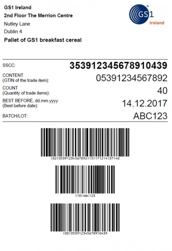 How To Set Up Label Template In Word Awesome Sample Gs1 Pallet Label Layout With A Serial Shipping