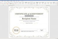 Label Maker Template Word New Create A Certificate Of Recognition In Microsoft Word