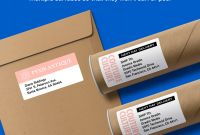 Label Template 21 Per Sheet Awesome Avery Shipping Labels Sure Feed 2 X 4 250 Labels 5263