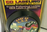 Memorex Cd Labels Template New Cd Stomper Pro Labeling Kit With Labels Label Applicator