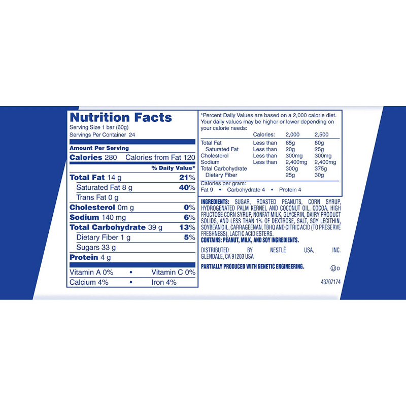 Nutrition Label Template Word Unique Baby Ruth 24 Ct