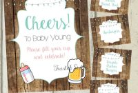 Officemax Label Template Unique A Baby is Brewing Decorations Beer Baby Shower Decor Beer
