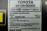 Online Shipping Label Template New Details Zu Cd Radio Toyota Yaris 86120 0d200 122000 7110b101
