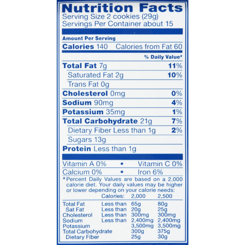 Online Shipping Label Template Unique Oreo Cookie Food Label Food Intended For Nutrition Label