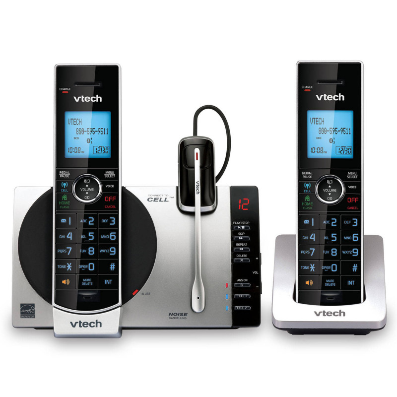 """Panasonic Phone Label Template New Vtecha Dect 6 0 2 Handset Connect To Cella""""¢ Cordless Phone With Digital Answering System Ds6771 3 2 Handsets 1 Cordless Headset Item 306480"""