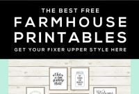 Pantry Labels Template Unique 40 Free Farmhouse Printables For That Fixer Upper Vibe