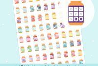 Prescription Bottle Label Template New Printable Medicine Tracker Pill Bottles Digital Pill Tracker Vitamin Tracker Prescription Sticker Download Bullet Journal Stickers