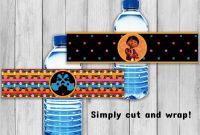 Printable Water Bottle Labels Free Templates New Coco Water Bottle Labels Coco Party Coco Printable Labels