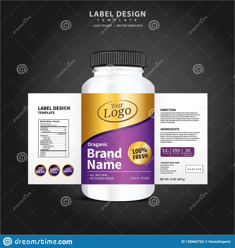 Product Label Design Templates Free Awesome Bottle Label Package Template Design Label Design Mock Up