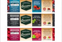 Product Label Design Templates Free Awesome Sistema Etiquetas Bocana Linea Mermelada Por Sabores Food