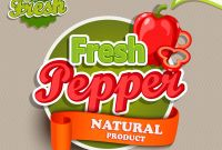 Product Label Design Templates Free Unique organic Food Label Fresh Pepper Logo Download Free