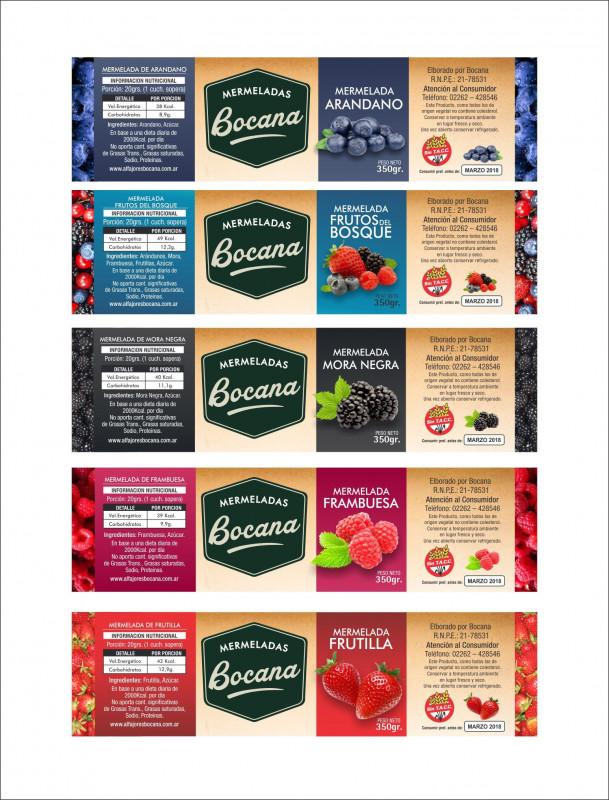 Ready To Pop Labels Template Awesome Sistema Etiquetas Bocana Linea Mermelada Por Sabores Food
