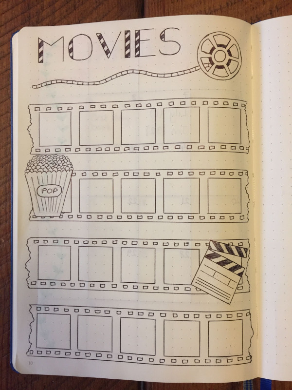 Ready To Pop Labels Template New My Movies Page Bullet Journal Bujo Page Bullet Journal