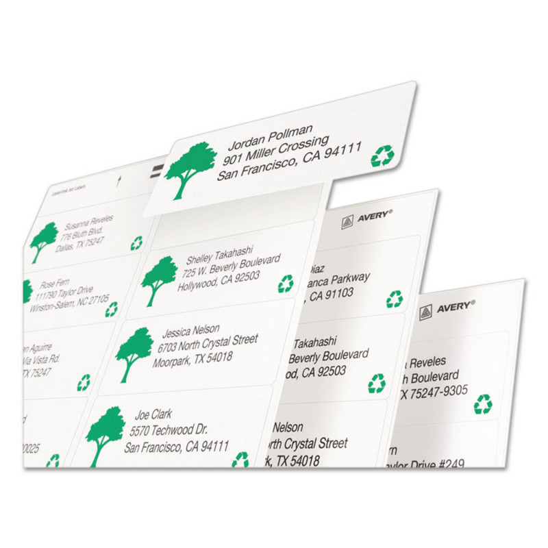 Return Address Labels Template 30 Per Sheet Awesome Ecofriendly Laser Inkjet Easy Peel Mailing Labels 1 X 2 5 8 White 7500 Pack