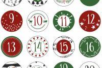 Round Sticker Labels Template Unique Adventskalender Selber Machen Adventskalender Diy