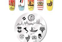 Round Sticker Labels Template Unique Amazon Com Valentines Day Nail Stamping Plate Flower Nail