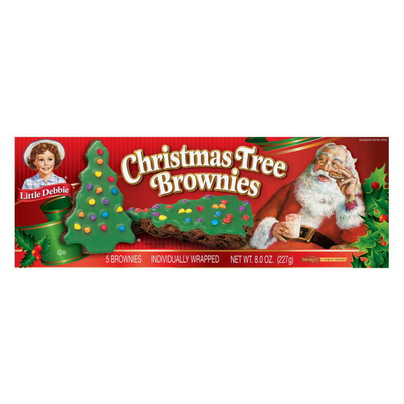 Secret Santa Label Template Unique Little Debbie Family Pack Christmas Tree Brownies 8 Oz