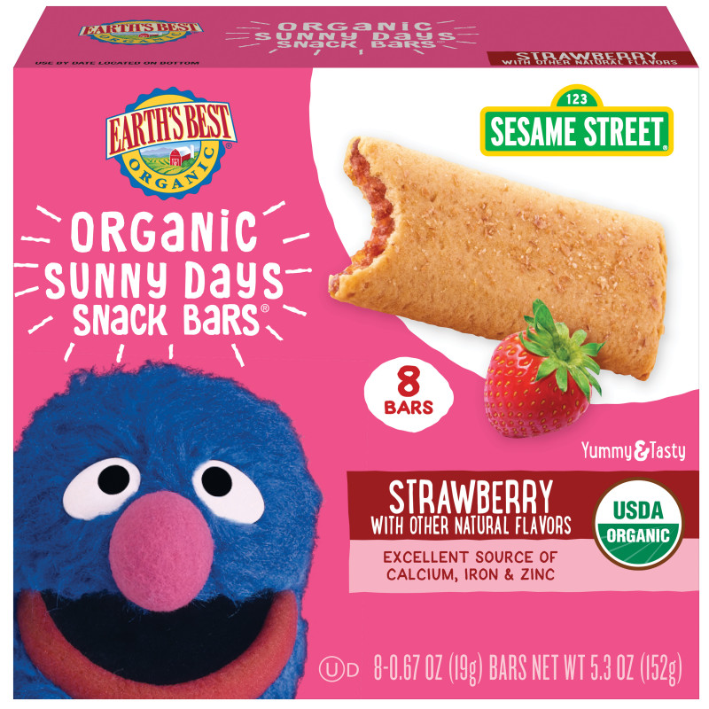 Sesame Street Label Templates Unique Earths Best Organic Sesame Street Sunny Day Toddler Snack Bars With Cereal Crust Strawberries 8 Count Box Walmart Com