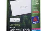 Staples White Return Address Labels Template Awesome Ecofriendly Laser Inkjet Easy Peel Mailing Labels 1 X 2 5 8 White 7500 Pack