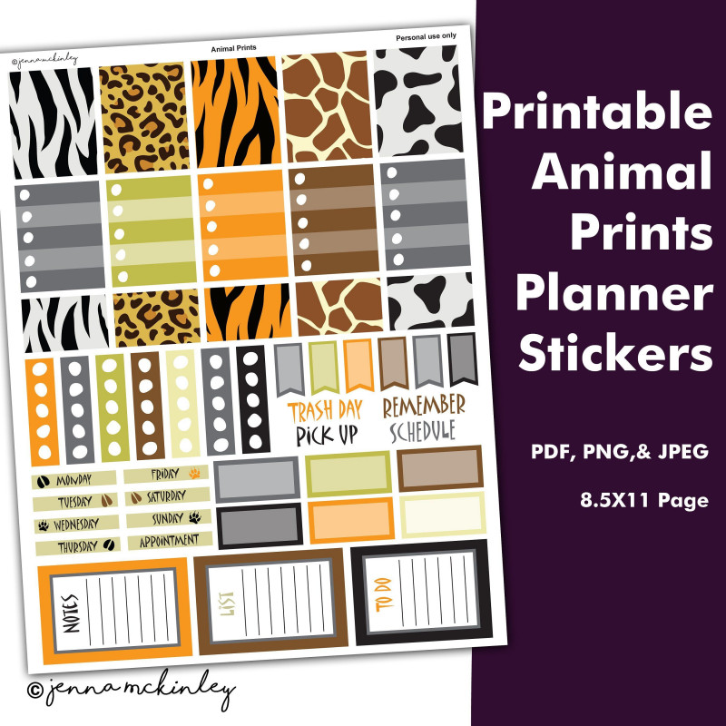 Sticker Label Printing Template New Pin On Jenna Mckinley Printable Planner Stickers Tags