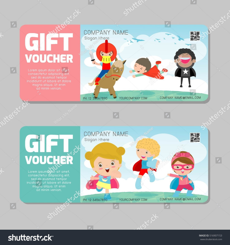 Superhero Water Bottle Labels Template Awesome Gift Voucher Template Colorful Pattern Bright Stock Vector