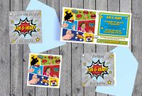 Superhero Water Bottle Labels Template Awesome Superhero Wedding Invites Printable Wedding Invitations