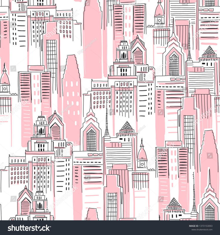 Superhero Water Bottle Labels Template New Modern New York City Scape Pink Stock Vector Royalty Free