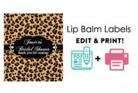 Sweet Labels Template Awesome Lucrative Printable Lip Balm Label Template Marsha Website