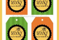 Sweet Labels Template Awesome Sherbet Blossom Spooky Sweets Halloween Treats