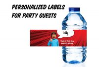 Template for Bottle Labels Unique Ryans World toy Review Water Bottle Labels Personalized