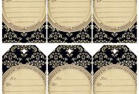 Template for Circle Labels New Free Printable Damask Tags Vintage Tags Vintage Labels