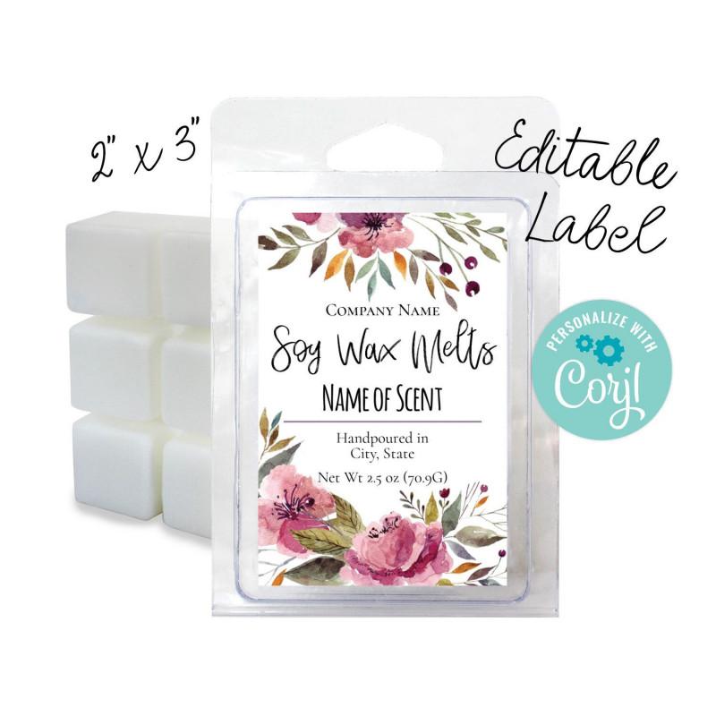 Template For Circle Labels Unique Editable Watercolor Floral Label 2x3 Customize