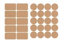 Template for Circle Labels Unique Mason Jar Labels for 40 Jars and Lids Multiple Colors