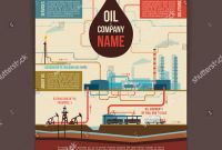 Template for Labels 8 Per Sheet Awesome Oil Company Corporate Template Poster Stock Vector Royalty